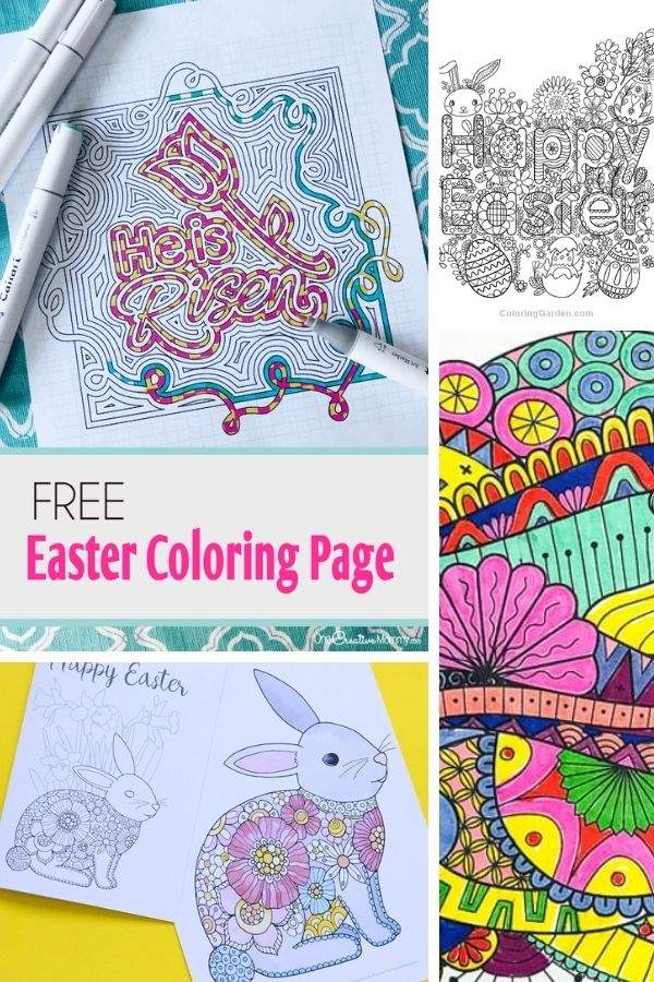 cute Free Easter Coloring Pages