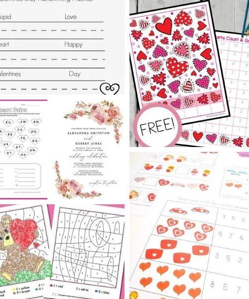 Free Valentine's Day worksheets