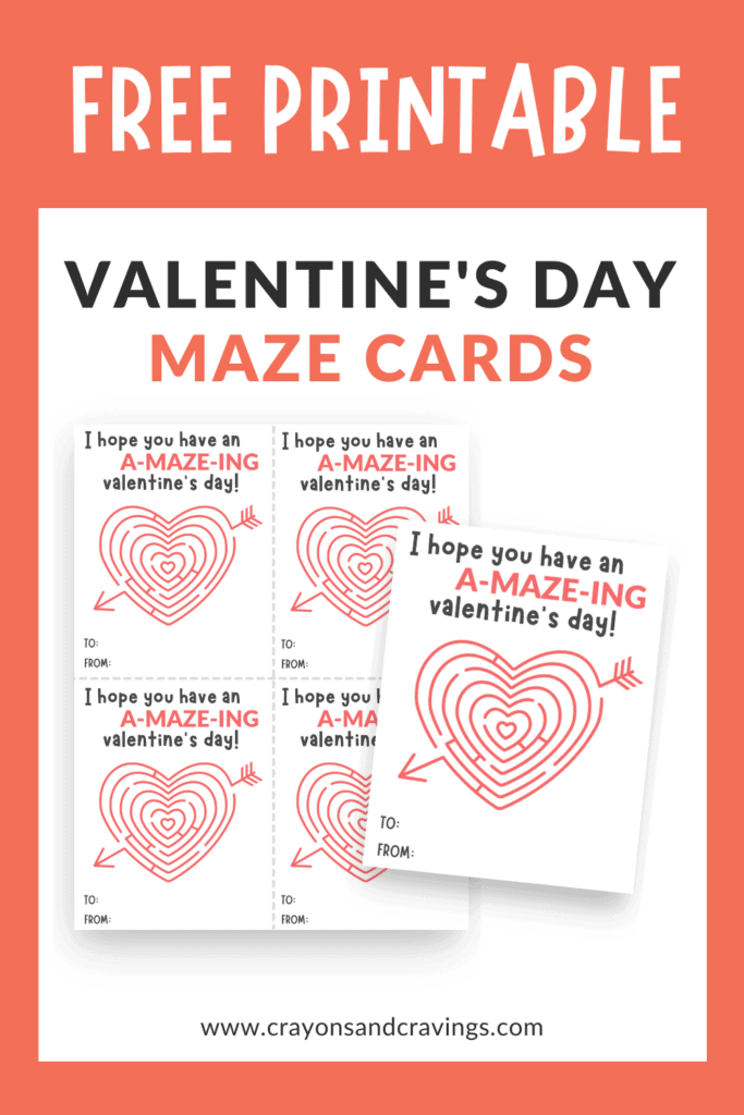 printable Valentine's Day maze cards
