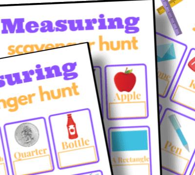 printable measuring scavenger hunt