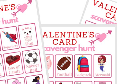 Valentine's Scavenger Hunt
