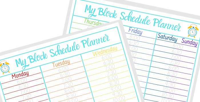 printable block schedule template