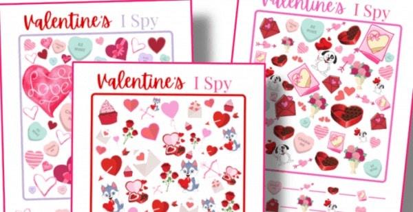 Valentine I Spy Printables