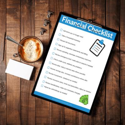financial checklist printable