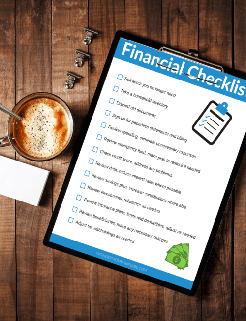 financial checklist printable