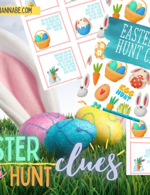 Indoor Easter Egg Hunt Clues
