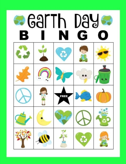 earth day bingo set