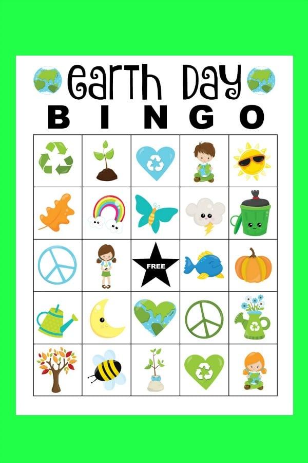 earth day bingo set