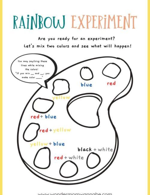 rainbow printables