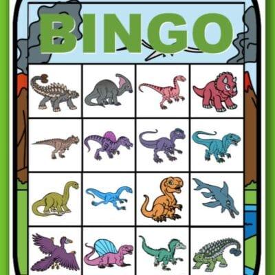 printable dinosaur bingo