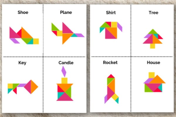 printable tangram objects for kids