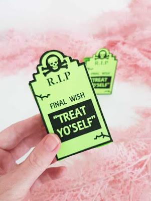 printable Halloween gravestone mini treat bags