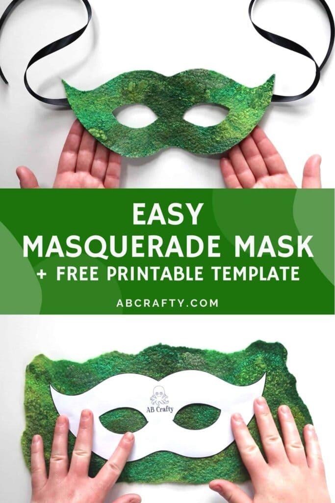 printable masquerade mask template