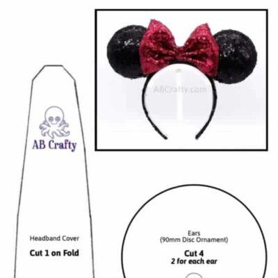 printable mouse ears template