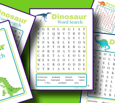 printable dinosaur word searches