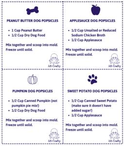 printable dog treat recipe cards